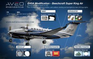 Beechcraft KingAir LED lights replacement