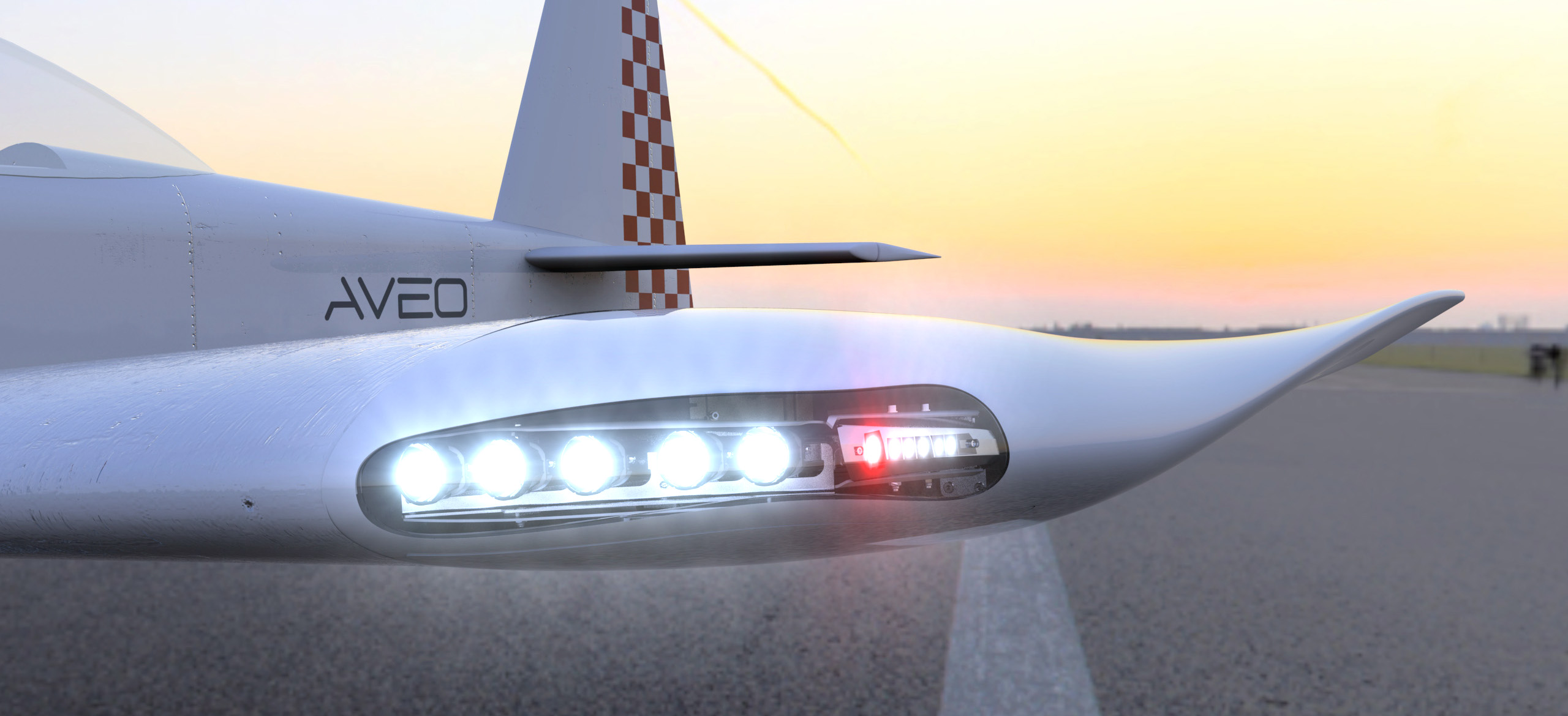 ZipTips Premiere - Winglets with integral conformal total lighting solution for VANS aircraft